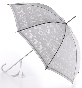 Fulton Umbrella - Eliza Devore Lace White