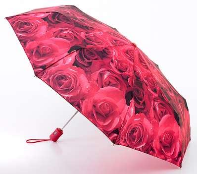 Fulton Compact Umbrella - Red Roses
