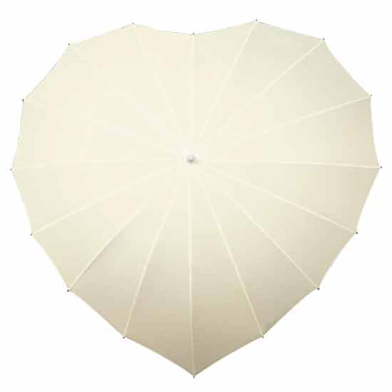 Heart Umbrella - Ivory
