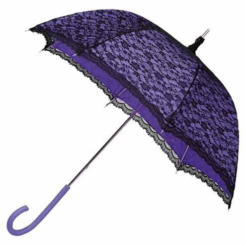 Modern Victorian Lace Umbrella - Purple