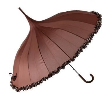 Chocolate Pagoda Fashion Umbrella