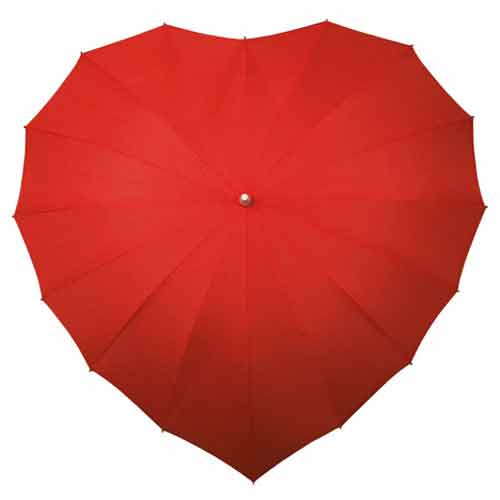 Heart Umbrella - Red