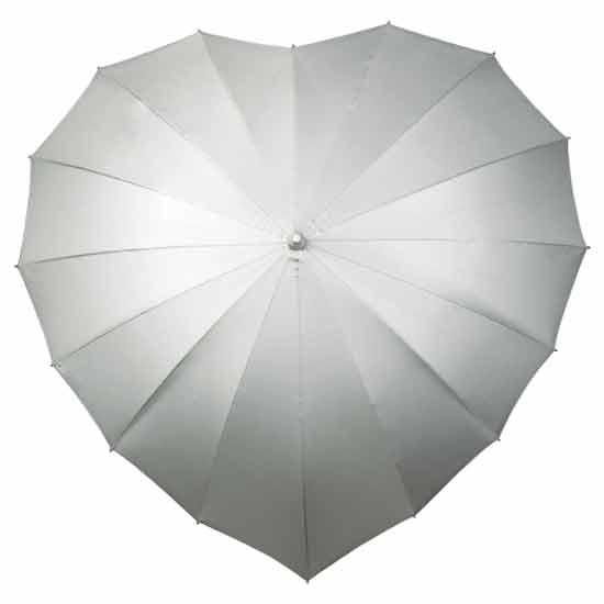 Heart Wedding Umbrella (Silver)