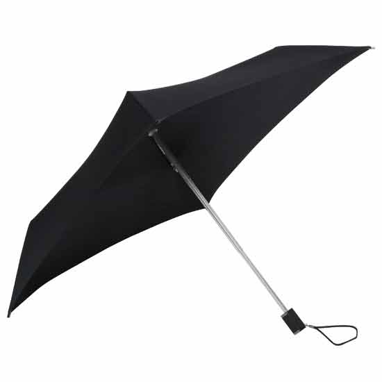 Square Compact Wedding Umbrella - Black