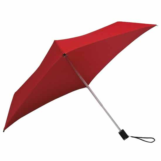 Square Compact Umbrella - Red