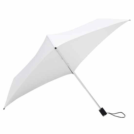 Square Compact Umbrella - White