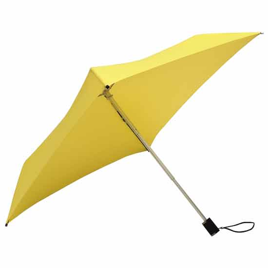 Square Compact Umbrella - Yellow