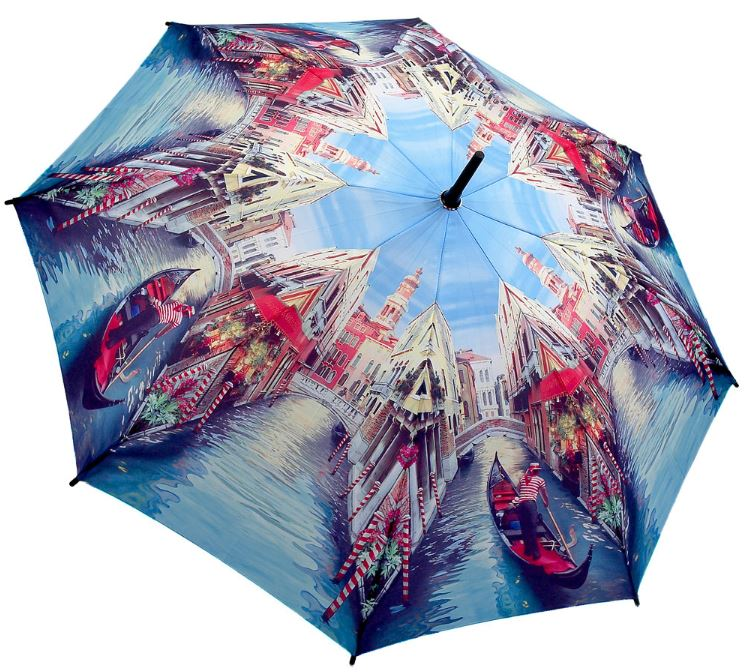 Venice City Scene Full Length Umbrella