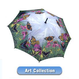 Art, Flower and Birds Umbrellas - Buy a great Art Umbrella now!