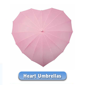 Our brand new heart umbrellas - umbrella in the shape of a heart ... check them out.