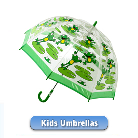 Dinosaurs, Frogs and even Sharks - our collection of Childrens umbrellas has been created with fun in mind hehe!