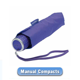 Manual Compact and Telescopic Umbrellas