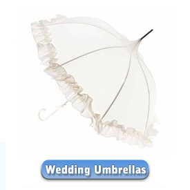 That special day requires one of our very special Wedding umbrellas. A wide selection of quality Wedding umbrellas with plenty of style and loads of class!