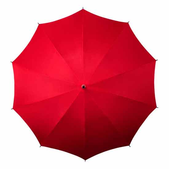 As well as Green, these brand new hands free umbrellas are available in Red