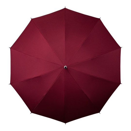 shoulder strap umbrella maroon open