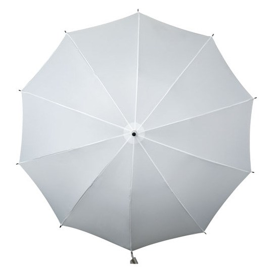shoulder strap umbrella white open