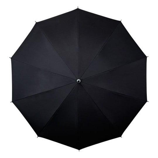 shoulder strap umbrella open black