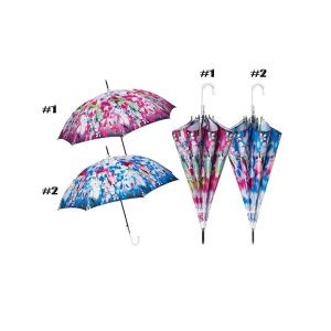 Perletti Designer Floral Umbrella - Aquerello - Abstract Floral Print