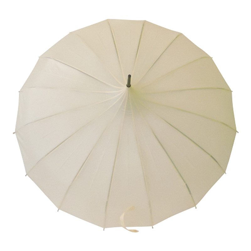 cream pagoda umbrella