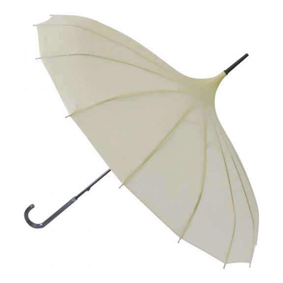 cream pagoda umbrella