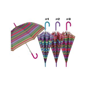 Perletti Azteco Designer Umbrella - Indie Striped Canopy