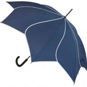 Navy Petal Swirl Umbrella