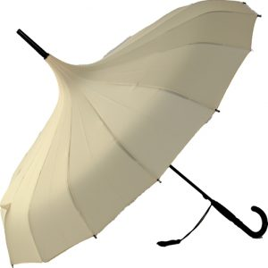 Oriental Pagoda Umbrella Ivory / Cream