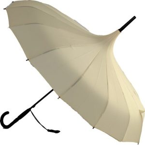 Oriental Pagoda Cream Umbrella Ivory / Cream