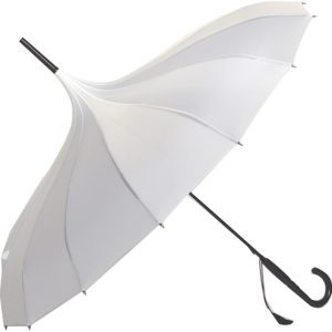 Oriental Pagoda Umbrella White