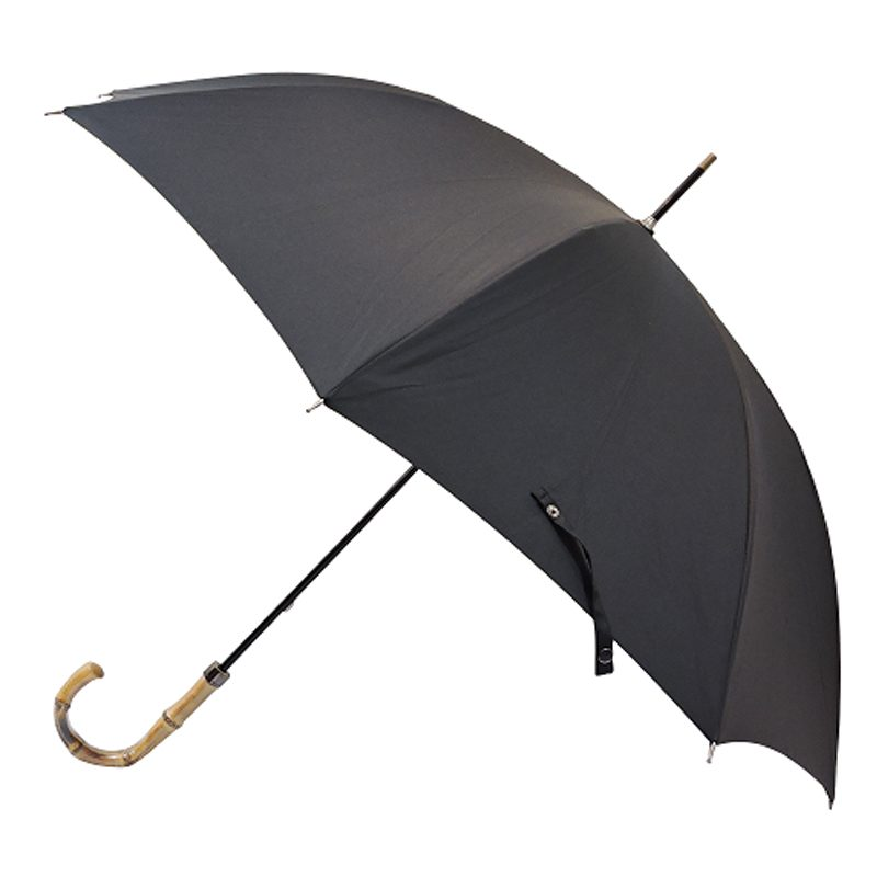 Bamboo Handle Umbrella Closed