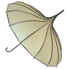 Beige Pagoda Umbrella