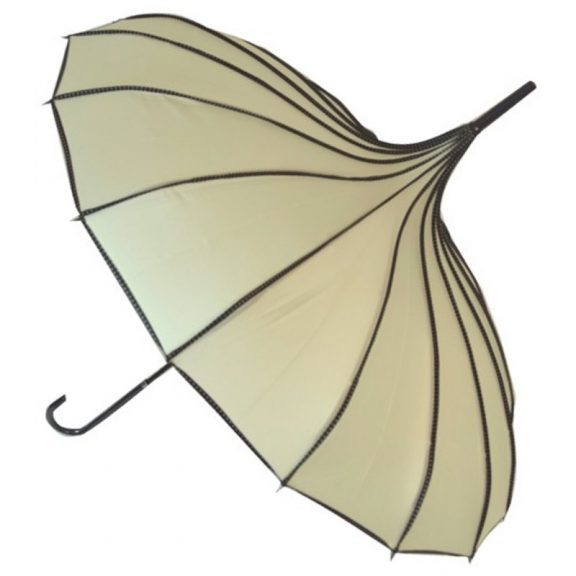 Beige Pagoda Umbrella