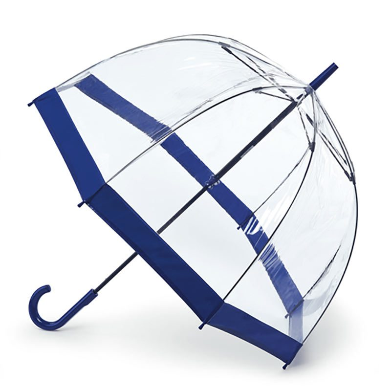 clear blue umbrella