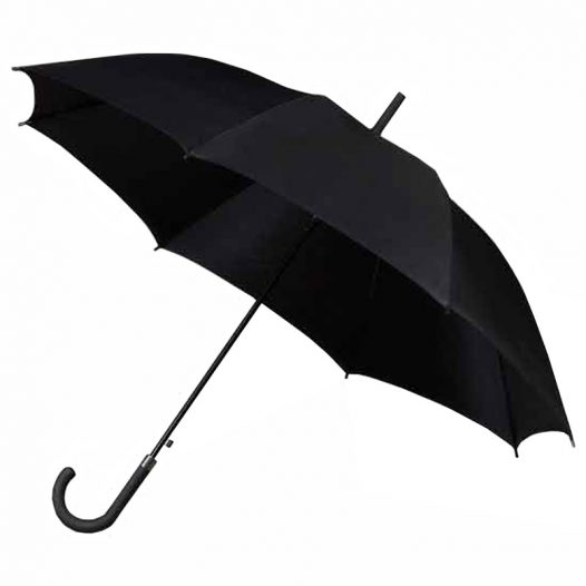 Bridal Walking Style Plain Black Umbrella