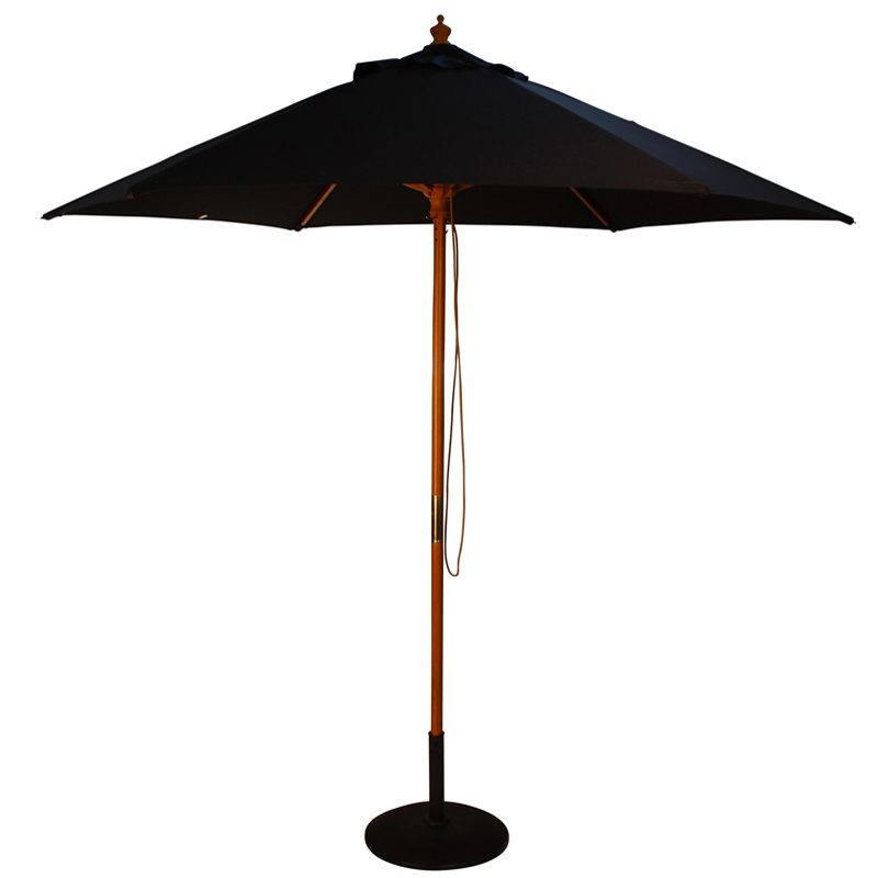 wood pulley parasol black cutout