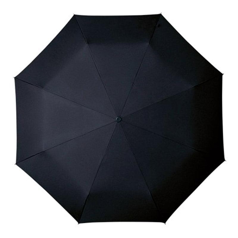 black folding umbrella