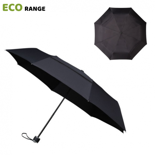 Black ECO Compact Umbrella