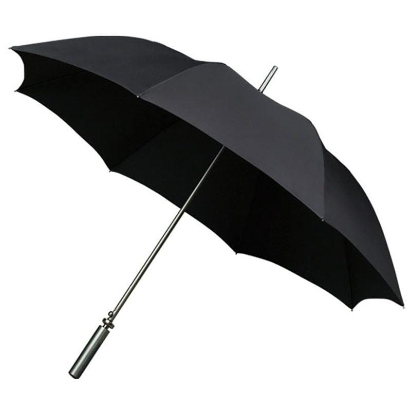 Aluminium Black Sports Golf Large Automatic Umbrella