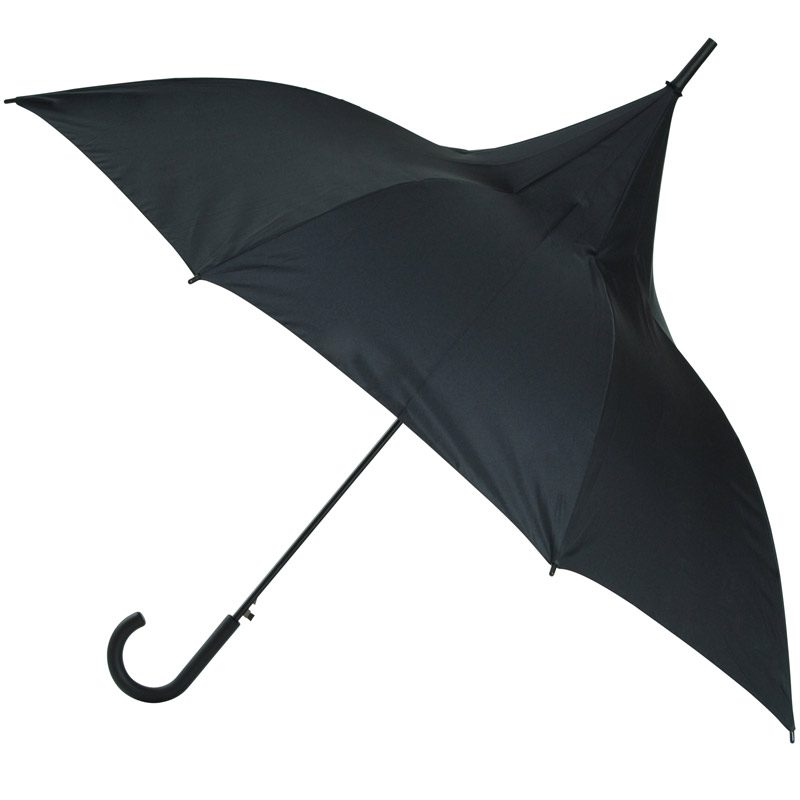 Ladies Classic Black Pagoda Umbrella / Parisian Parasol