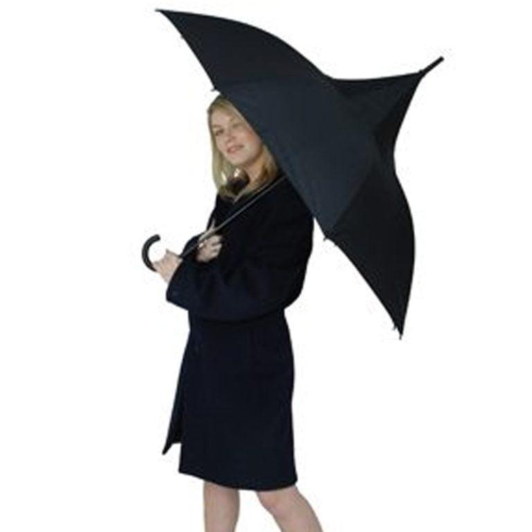 Black Pagoda Umbrella Modeled