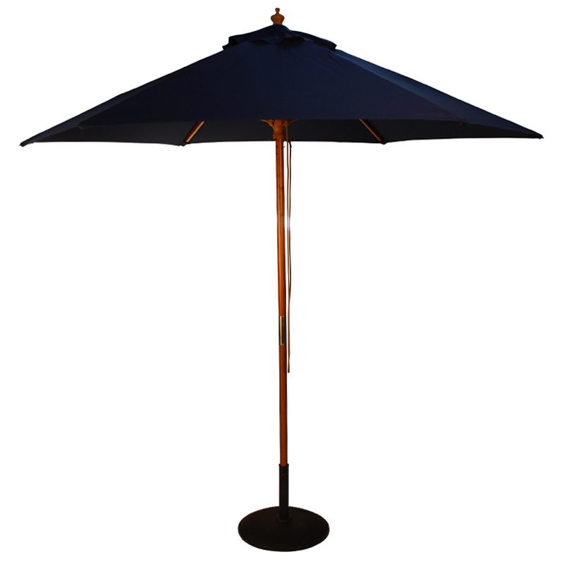 wood pulley parasol blue cutout