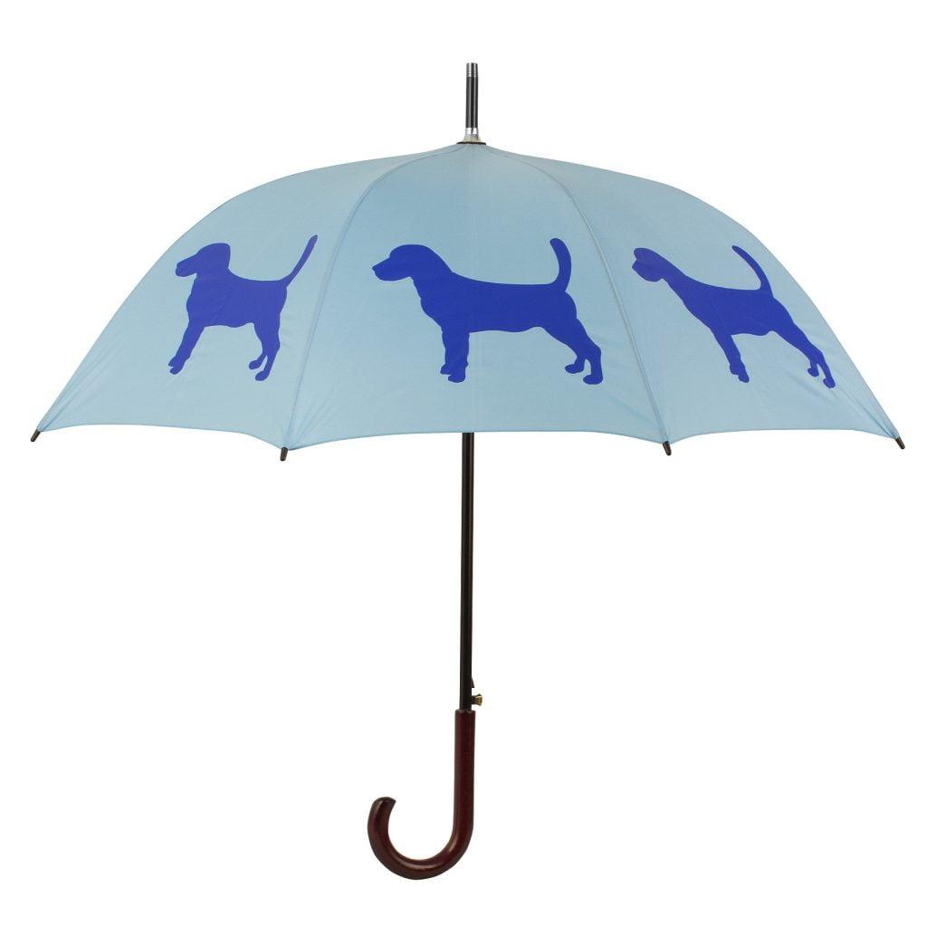 Beagle Dog Umbrella - Blue