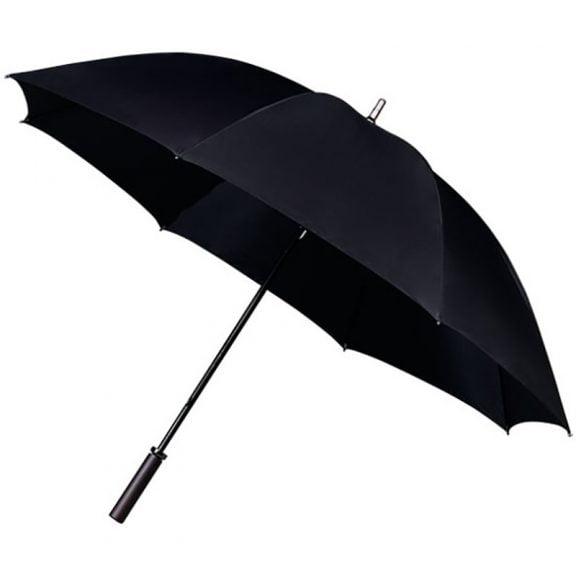 black golf umbrella