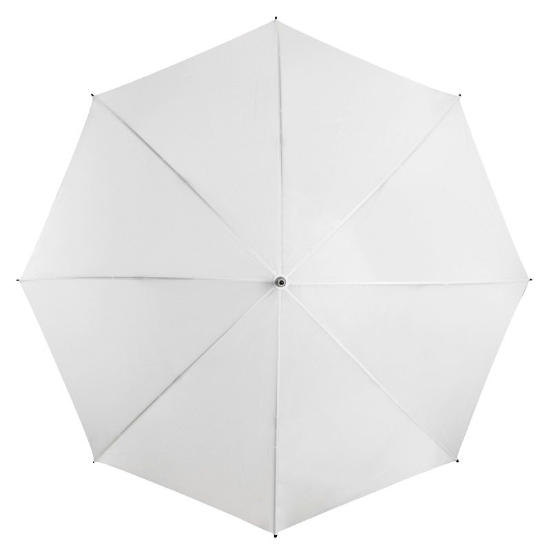 White Budget Wedding Umbrella top
