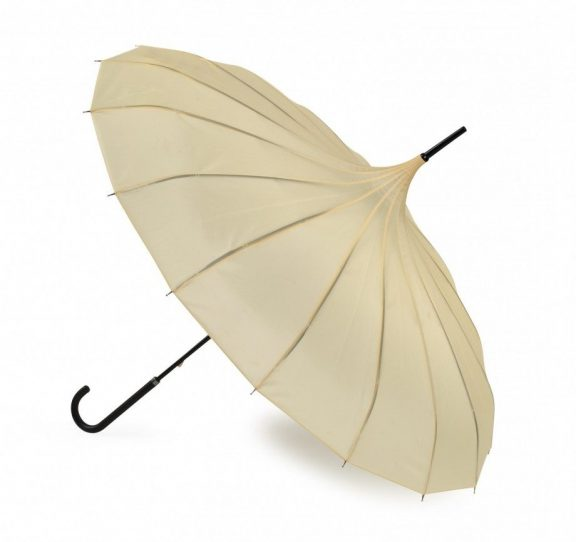 Ava Buttermilk Cream Pagoda Umbrella