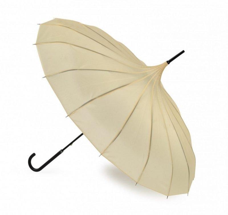 Ava Buttermilk Cream Pagoda Umbrella