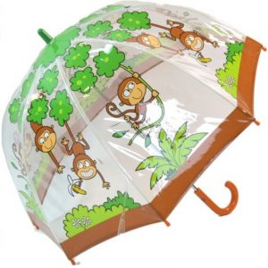 Children's PVC Monkey Umbrella