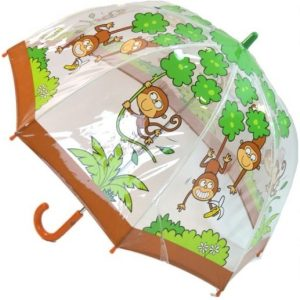 PVC Kids Monkey Umbrella
