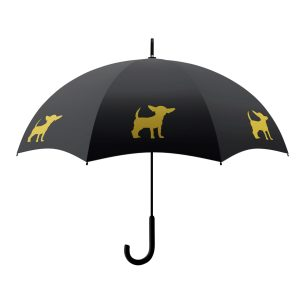 Chihuahua Dog Umbrella - Gold & Black