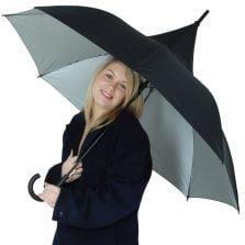 Ladies Classic Black Pagoda Umbrella / Parisian Parasol / Classic Black Pagoda / UV Protective Umbrella